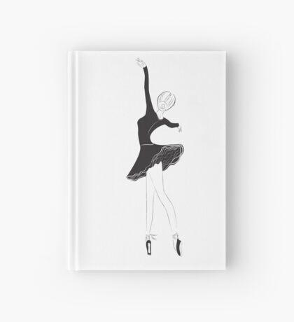 Ballet Dancer in Flower Tutu Skirt Hardcover Journal