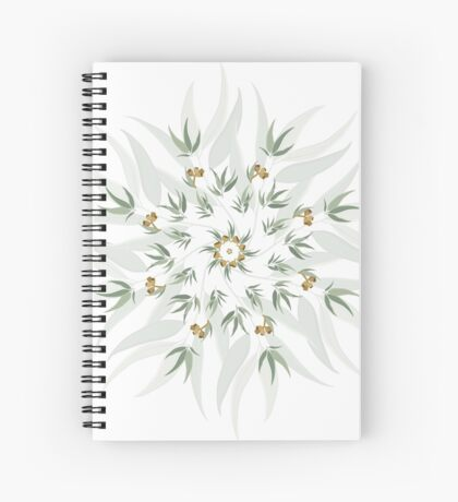 Organic pattern of eucalyptus leaves and seeds Spiral Notebook