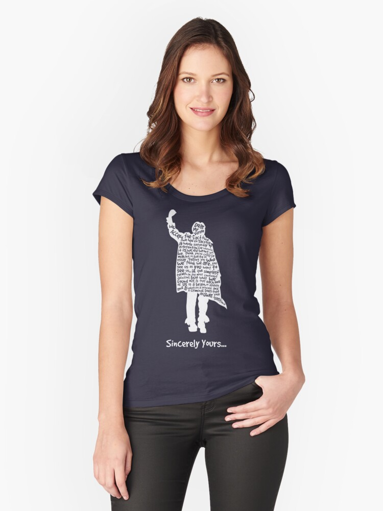 The Breakfast Club - Sincerely Yours - White Women's Fitted Scoop T-Shirt Front