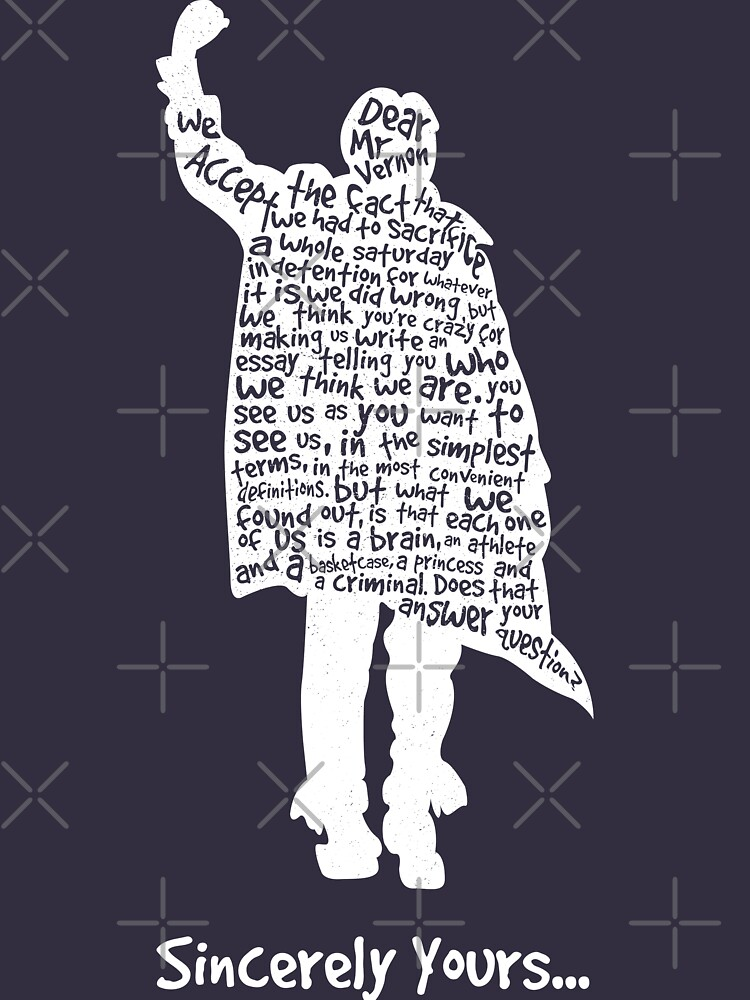 The Breakfast Club - Sincerely Yours - White | Classic T-Shirt