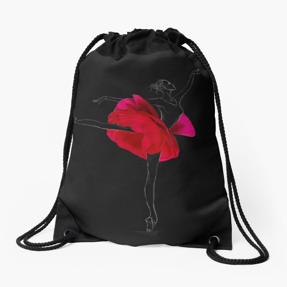 Ballerina dancer Drawstring Bag