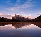 Mount Rundle Seen From Vermilion Lakes by Alex Preiss