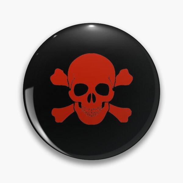Red skull and cross bones  Pin