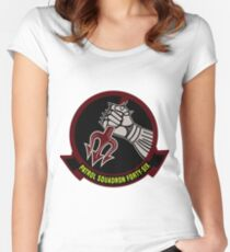 VP-46 Grey Knights Current Crest Women's Fitted Scoop T-Shirt