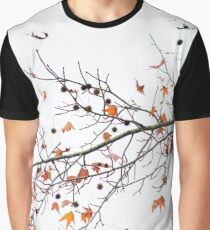 Orange Leaves and Gumballs Graphic T-Shirt