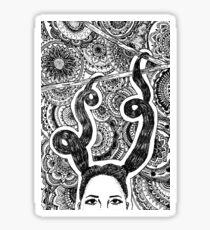 ponytails Sticker
