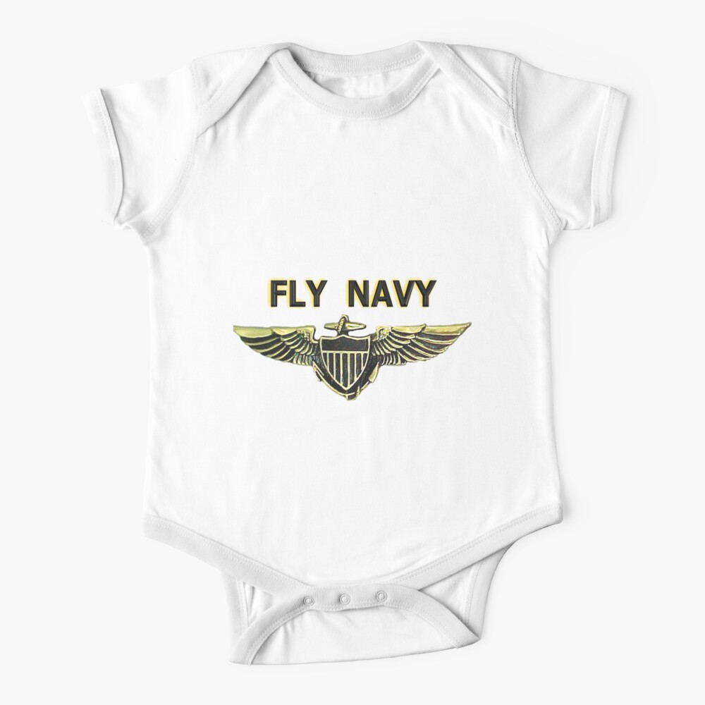 Naval Aviator Wings - Fly Navy Baby One-Piece