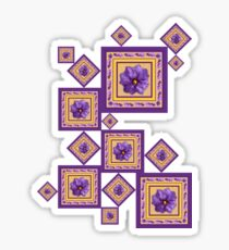 Purple Wildflower Sticker