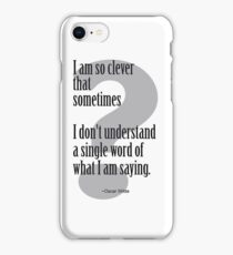 Oscar Wilde Clever Quote iPhone Case/Skin