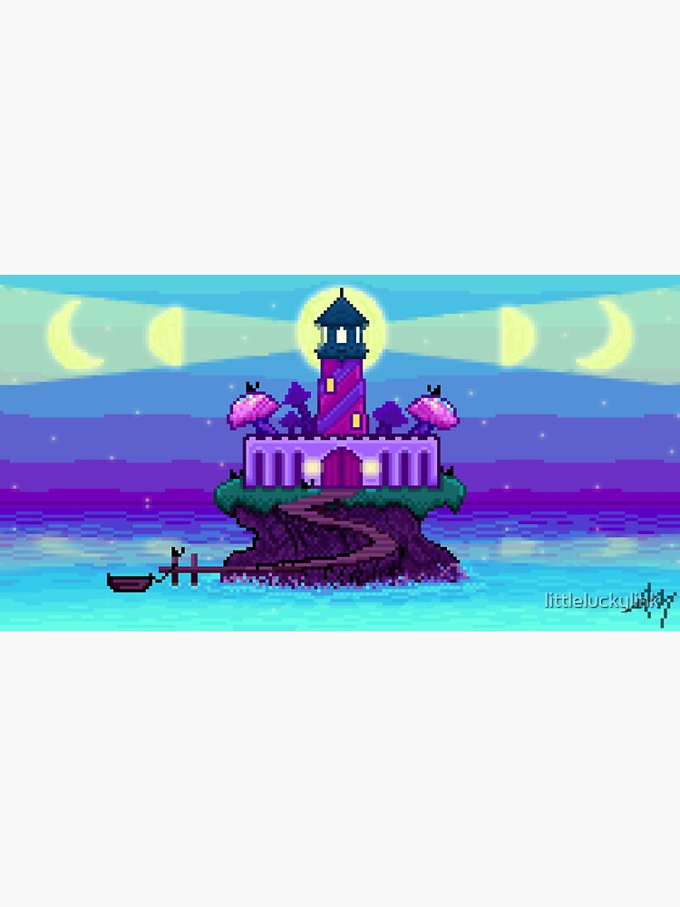 Projections III: Pixel Bay Lighthouse by littleluckylink