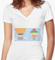 Sikh Air Balloon Women's Fitted V-Neck T-Shirt