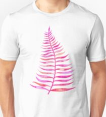 Pink Palm Leaf Unisex T-Shirt
