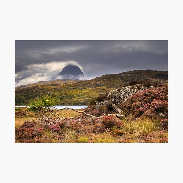 Suilven Mists  in Fall from Glencanisp Assynt Scotland. Photographic Print