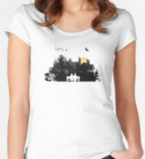 City Moonrise Women's Fitted Scoop T-Shirt