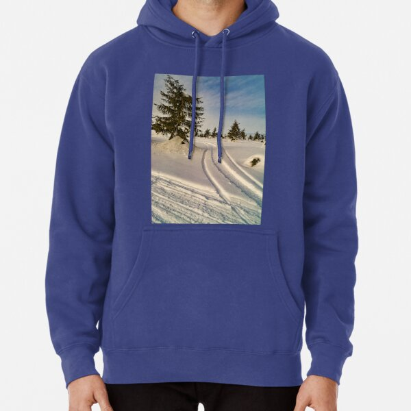 winter touch in a forest Pullover Hoodie