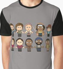 The Walking Dead - Main Characters Chibi - AMC Walking Dead Graphic T-Shirt