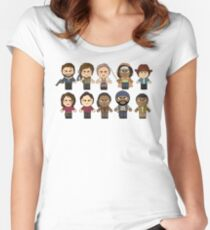 The Walking Dead - Main Characters Chibi - AMC Walking Dead Women's Fitted Scoop T-Shirt