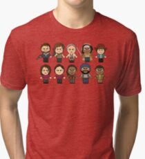 The Walking Dead - Main Characters Chibi - AMC Walking Dead Tri-blend T-Shirt
