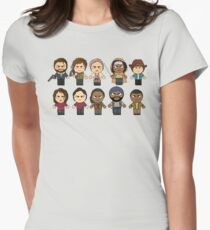 The Walking Dead - Main Characters Chibi - AMC Walking Dead Women's Fitted T-Shirt