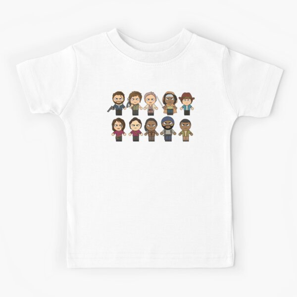 The Walking Dead - Main Characters Chibi - AMC Walking Dead Kids T-Shirt