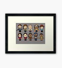 The Walking Dead - Main Characters Chibi - AMC Walking Dead Framed Print