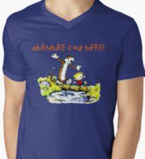 Calvin and Hobbes' Wonderful Adventure Mens V-Neck T-Shirt