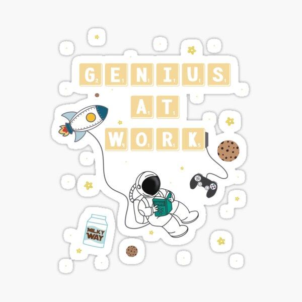 Genius at Work   Milky Way Sticker