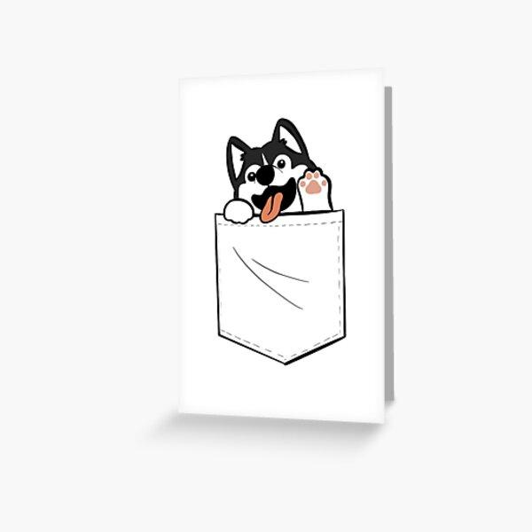 Dog in a pocket design Greeting Card