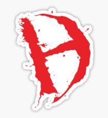 Diamanda Hagan D-H Logo (Red) Sticker