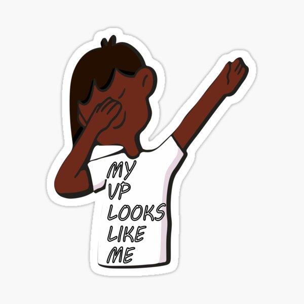 dabbing black girl my VP looks like me Sticker