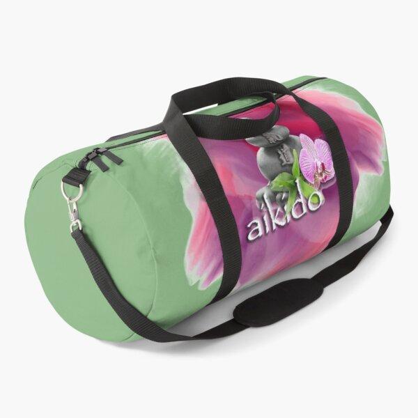 Aikido Meditation Pebbles - Martial Arts Motif Duffle Bag