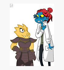 Underswap Alphys and Undyne Photographic Print