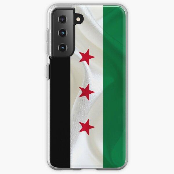 Bandera de la independencia de Siria Funda blanda para Samsung Galaxy