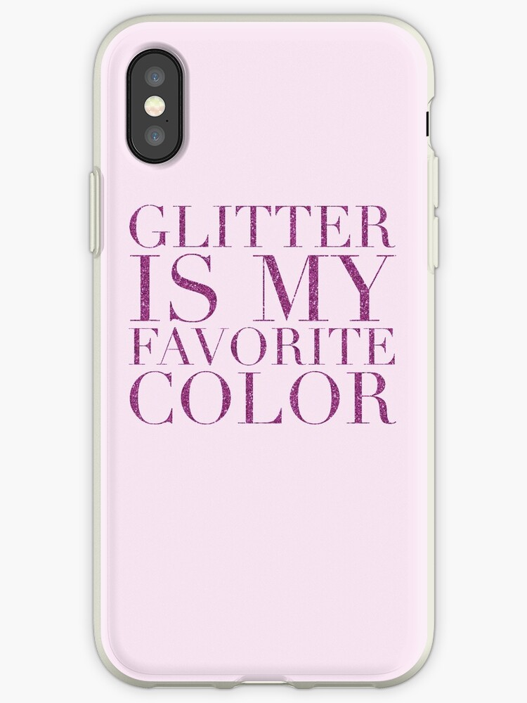 release date: 172bc 40b71 'glitter is my favorite color - am' iPhone Case by fahimahsarebel