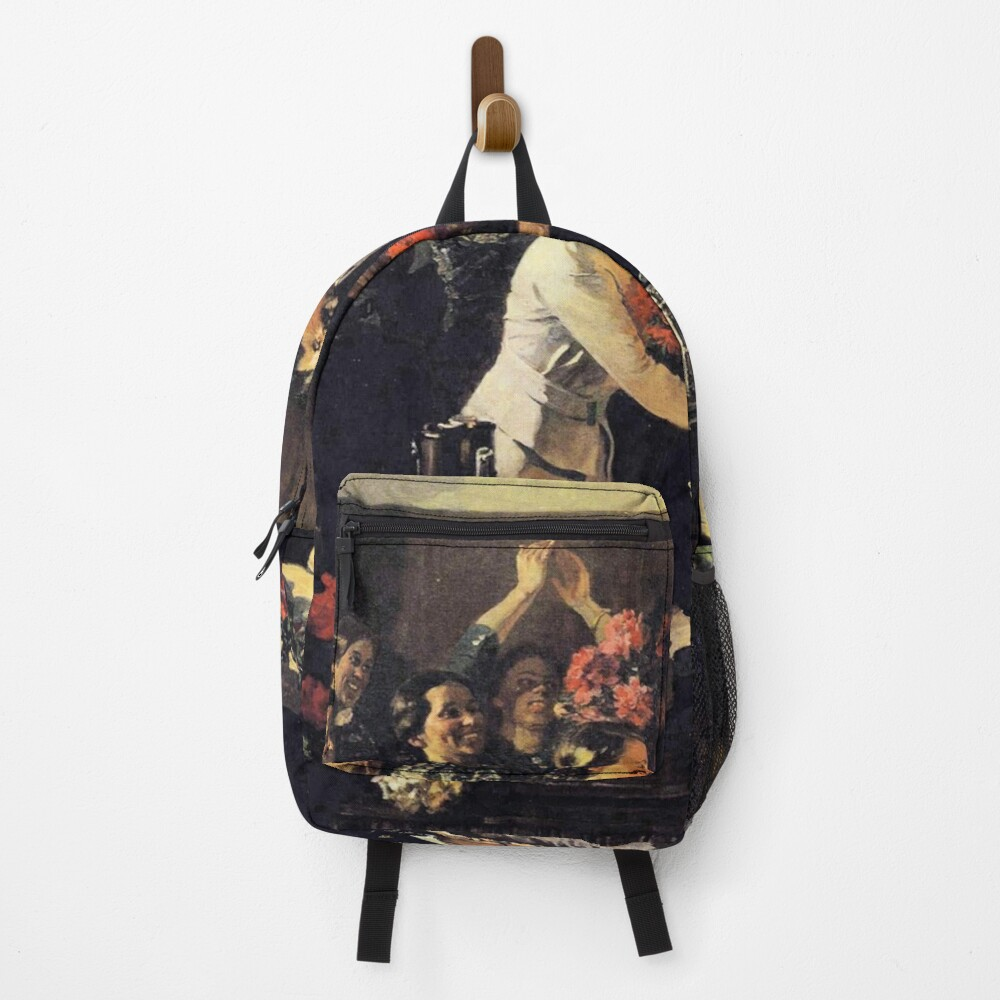 A political poster, the Soviet Union, Stalin, the leadership of the Soviet Union, the people, applause Backpack