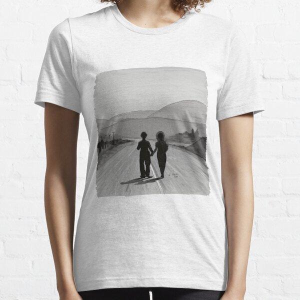 Charly Chaplin -Modern Times - Solo ilustración Camiseta esencial