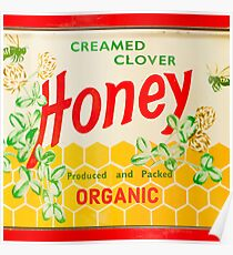 Organic Creamed Clover Honey Poster