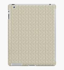 Beige Stitches iPad Case/Skin