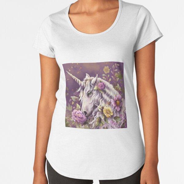 La licorne enchantée T-shirt premium échancré
