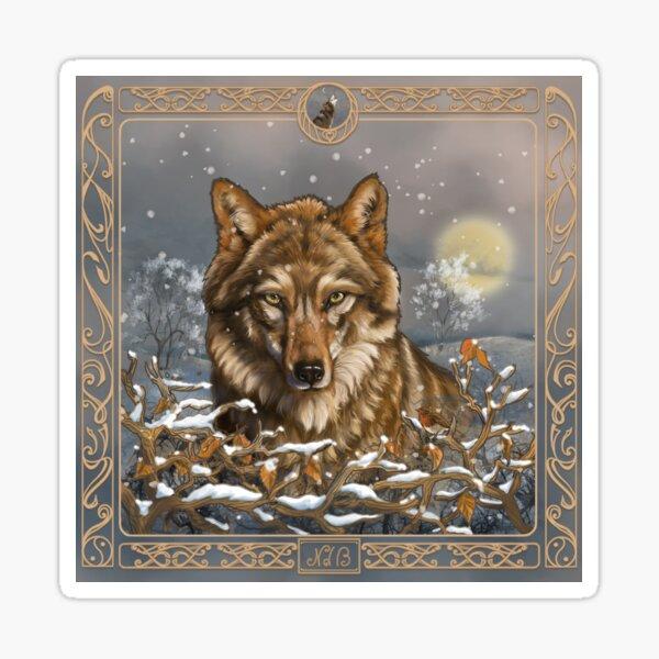 Loup celtique Sticker