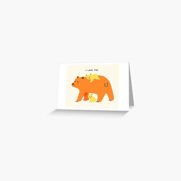 I love you Bears Greeting Card