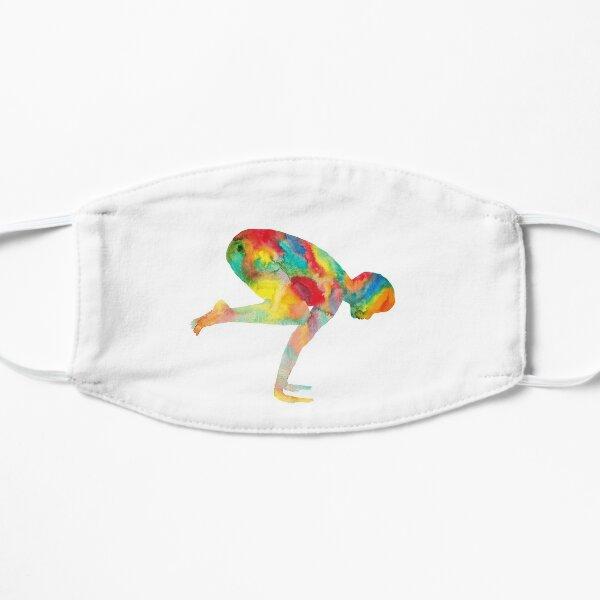 Yoga watercolor art Flat Mask