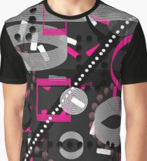 Florescent Pink Black Vector  Graphic T-Shirt