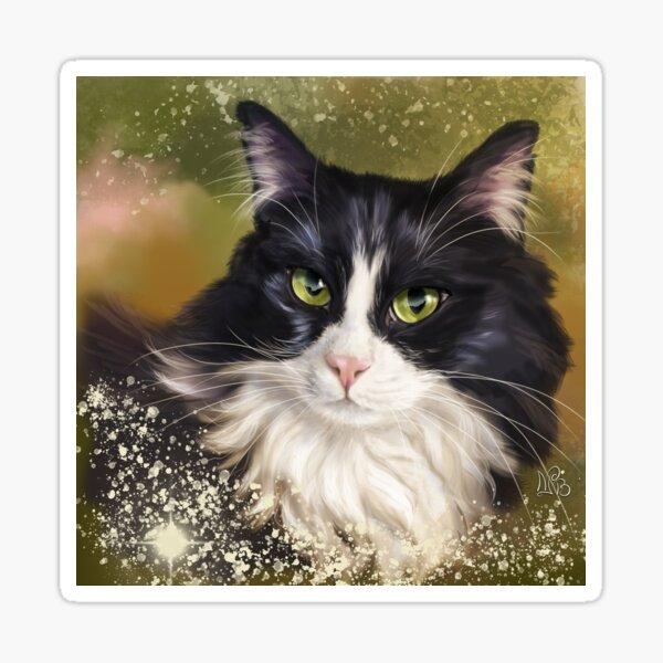 Black and white cat Sticker