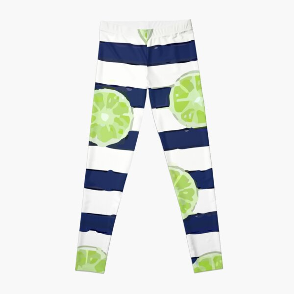 Lime Citrus White Leggings