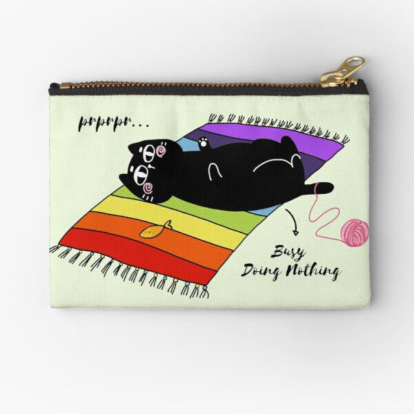 Busy Doing Nothing Zipper Pouch