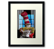 Cat In The Hat With His Moss-Covered Three-Handled Family Credenza Framed Print