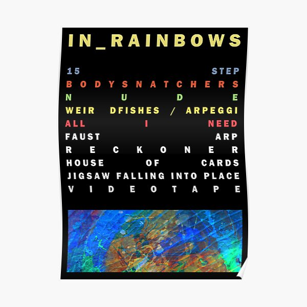 IN Rainbows - Radiohead Poster