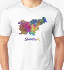 Slovenia in watercolor Unisex T-Shirt