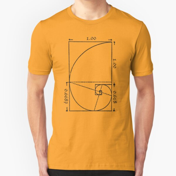 The Golden Spiral Slim Fit T-Shirt